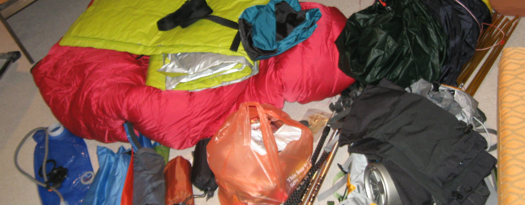 Before taking care of your gear: it is nothing but mess