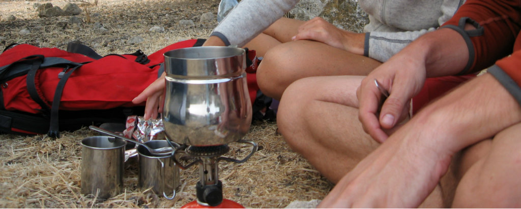 Hiking in Israel is never whole without some coffee!