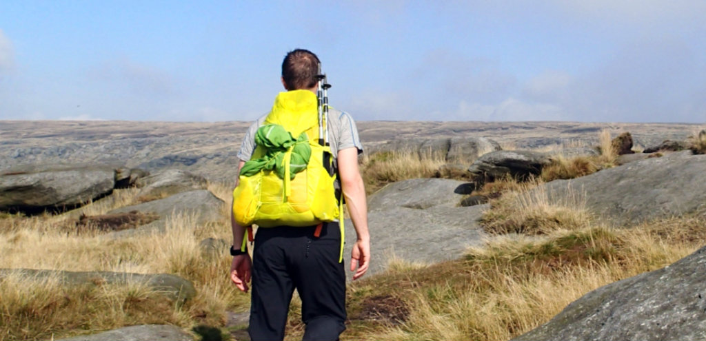 Haglofs Gram Comp 25 backpack in action on the Pennine Way