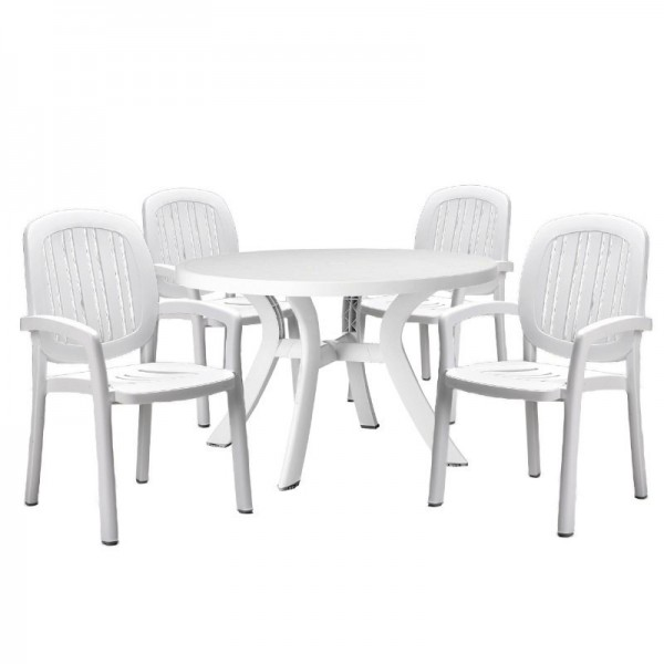 ponza resin outdoor dining set 5 piece white patio dining tables