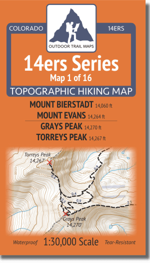 14ers Series Map 1 of 16 Cover