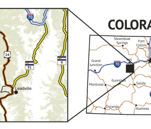 14ers Series Map 5 of 16 - Mount Massive, Mount of the Holy Cross location overview