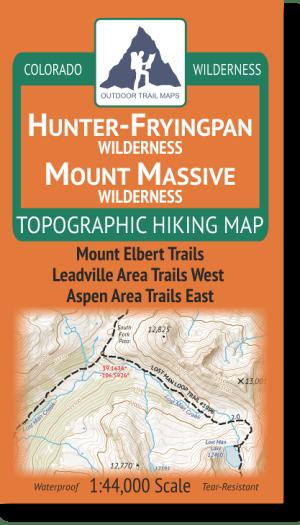 Cover of Hunter-Fryingpan / Mount Massive Wilderness Map