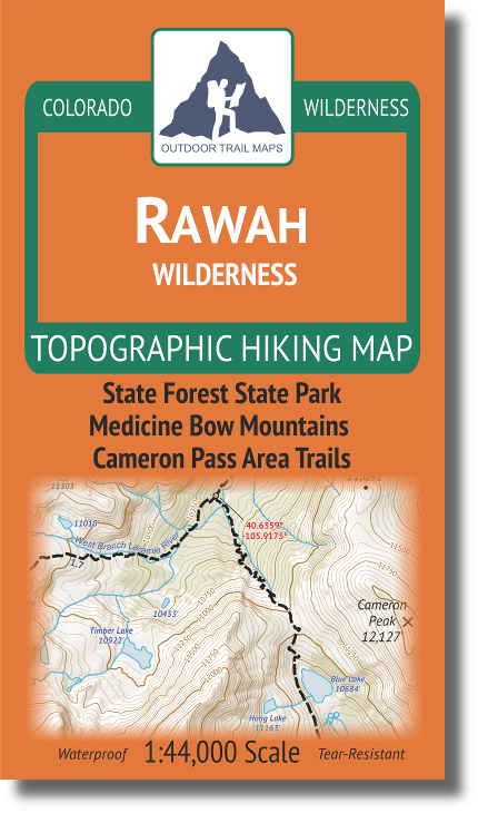 Cover of Rawah Wilderness Hiking Map