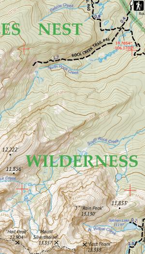 Eagles Nest Wilderness Map Crop 1
