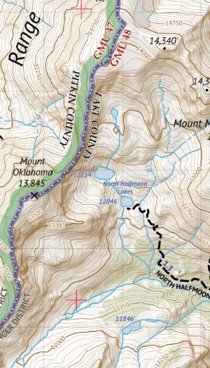 Hunter-Fryingpan Wilderness / Mount Massive Wilderness Crop 1