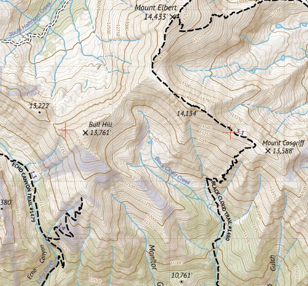 Hunter-Fryingpan Wilderness / Mount Massive Wilderness Crop 2