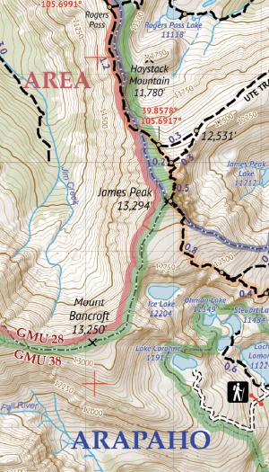 Indian Peaks Wilderness / James Peak Wilderness Crop 1