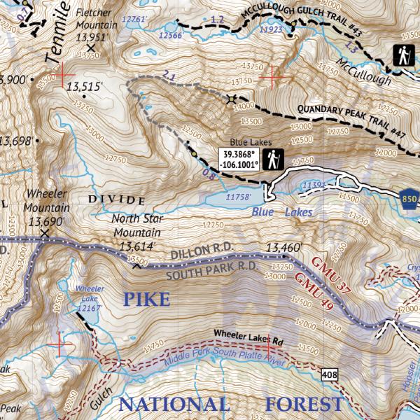 Mosquito-Tenmile Range Hiking Map Crop 2