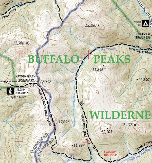 Mosquito-Tenmile Range Hiking Map Crop 3