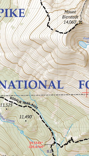 Mount Evans Wilderness Hiking Map Crop 1