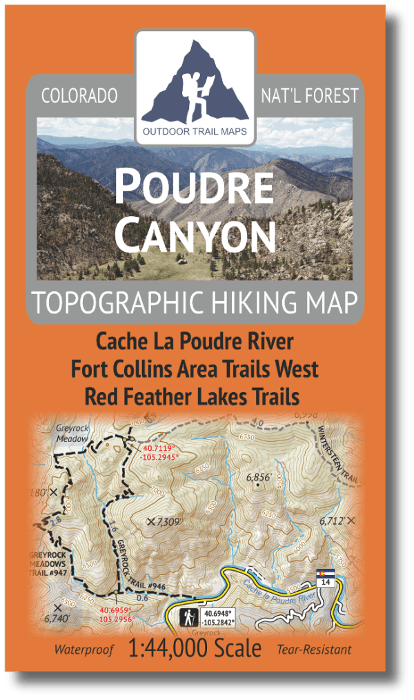 Cover of Poudre Canyon Hiking Map