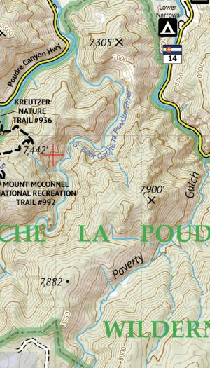 Poudre Canyon Hiking Map Crop 2