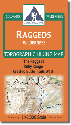 Cover of Raggeds Wilderness Hiking Map