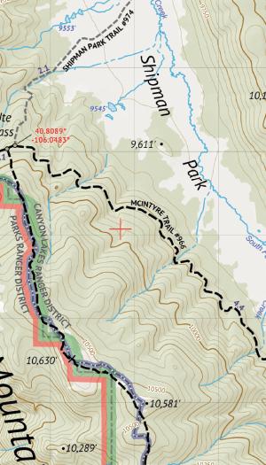 Rawah Wilderness Hiking Map Crop 1