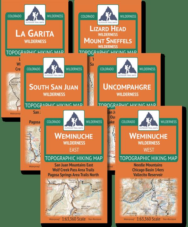 San Juan Mountains Wilderness Map Pack Covers