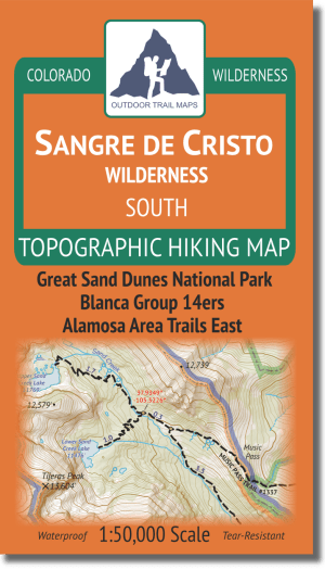 Cover of Sangre de Cristo Wilderness SOUTH Hiking Map