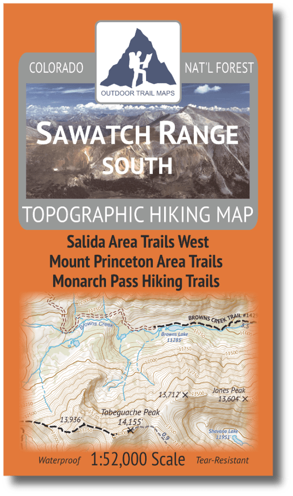Cover of Sawtch Range South Hiking Map