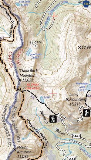 Sawtch Range South Hiking Map Crop 1