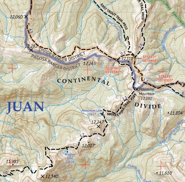 Weminuche Wilderness East Map Crop 2