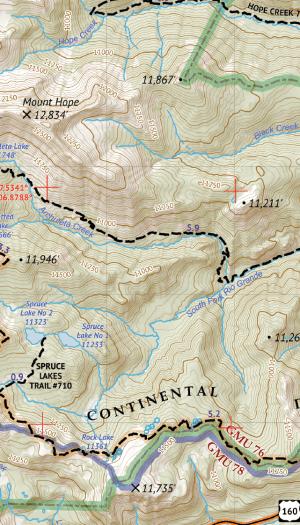 Weminuche Wilderness East Map Crop 3