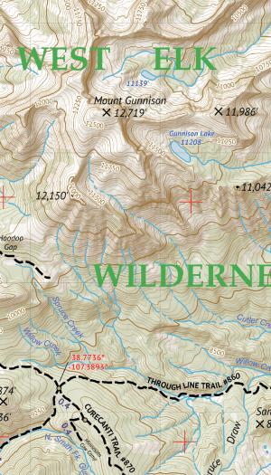 West Elk Wilderness Map Crop 2