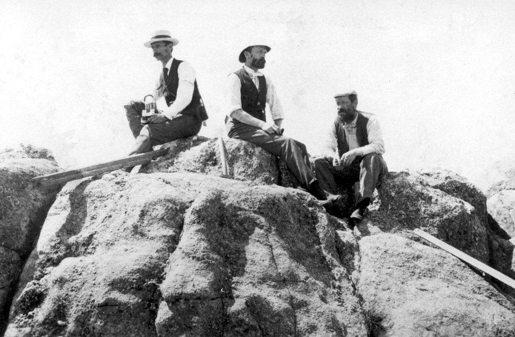 Henry Gannett with crew on Hayden Survey expedition