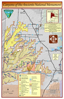Canyons of the Ancients National Monument map thumbnail