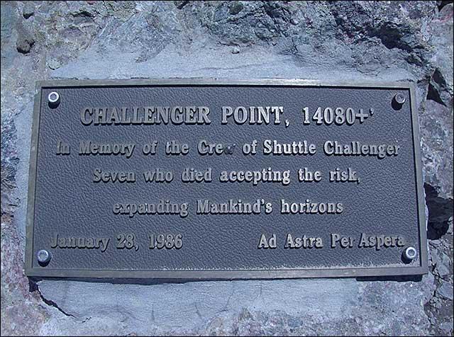 Challenger Point Plaque