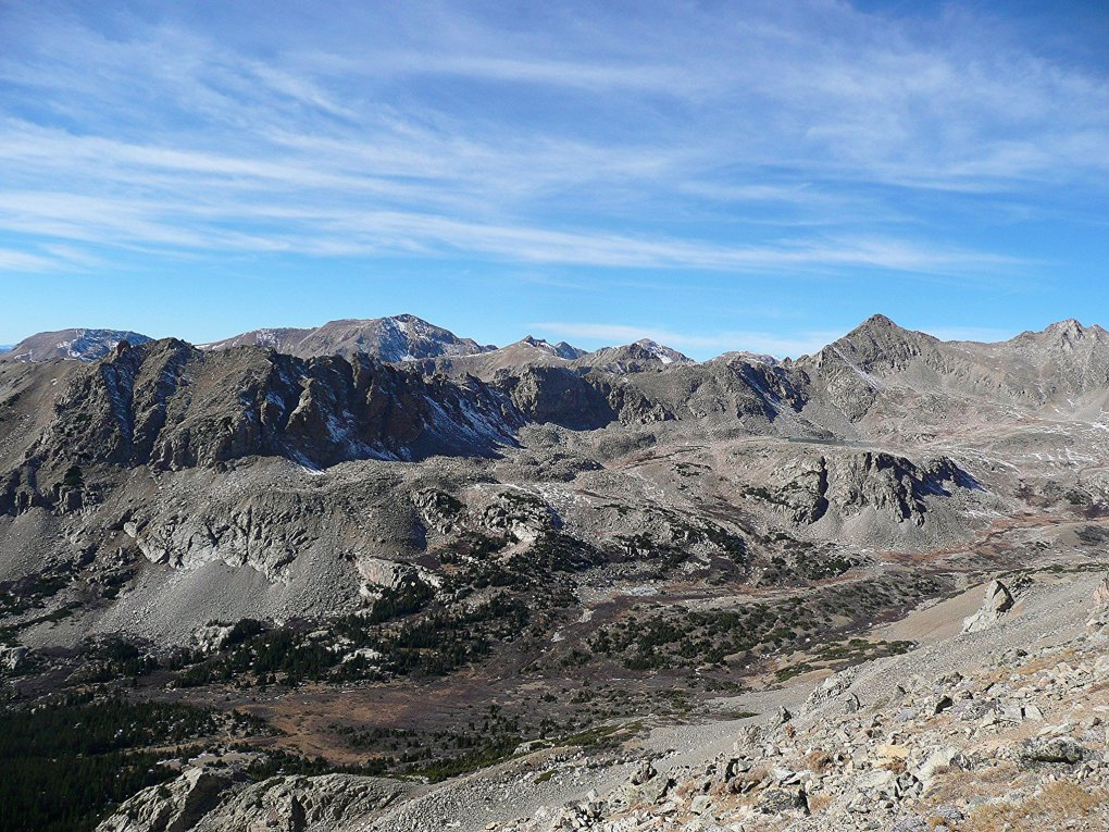 Looking down from Horn Fork Basin - Mount Columbia Colorado