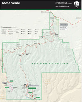 Mesa Verde National Park map thumbnail