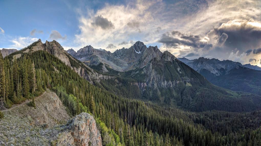 Mount Sneffels Wilderness from Dallas Creek Divide