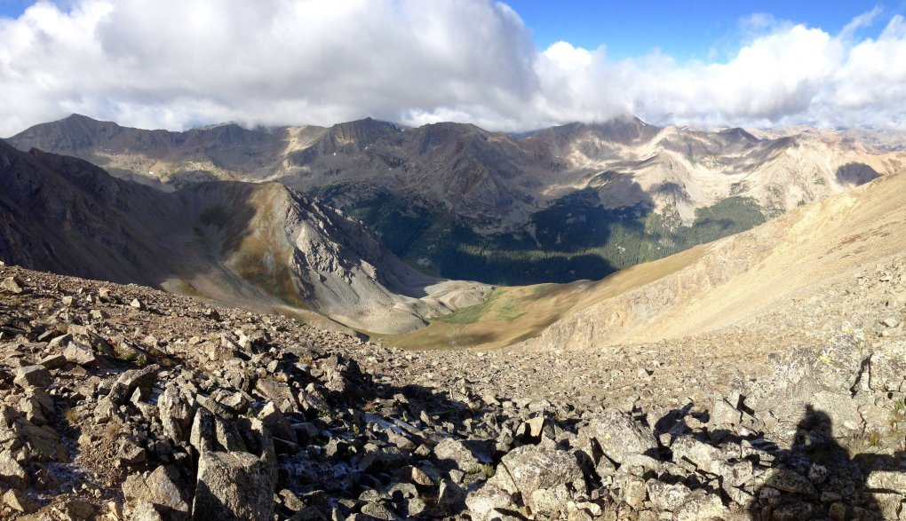 View West from Missouri Mountain Colorado