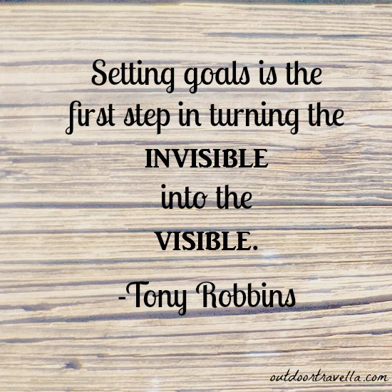 """Setting goals is the first step in turning the invisible into the visible."" -Tony Robbins"
