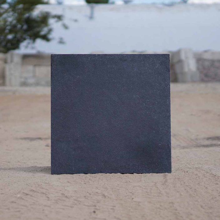 antique black stone paver 24 x 24