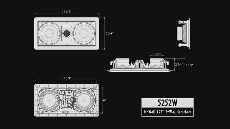 5252W Silver Ticket In-Wall In-Ceiling Speaker Schema