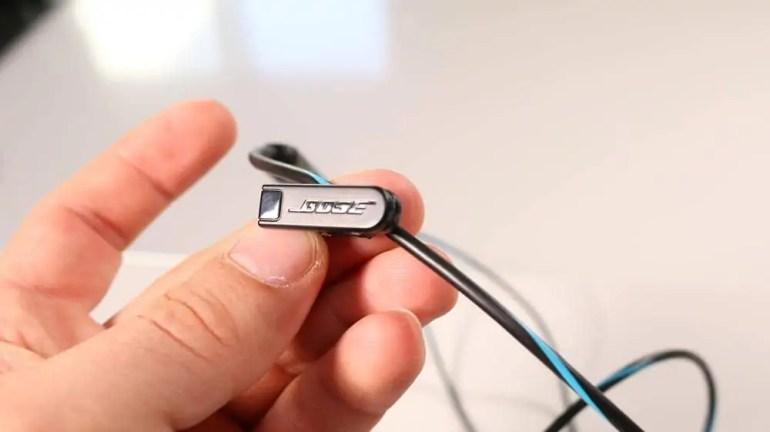 The Bose QuietComfort 20 Acoustic Noise Cancelling Headphones