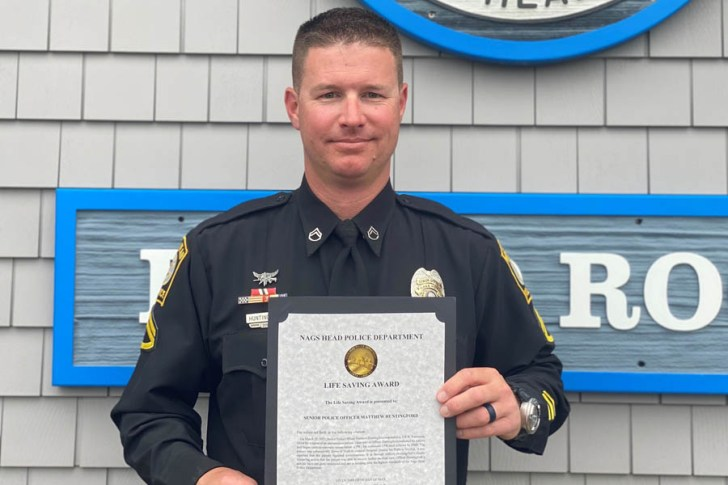Nags Head officer honored for lifesaving actions