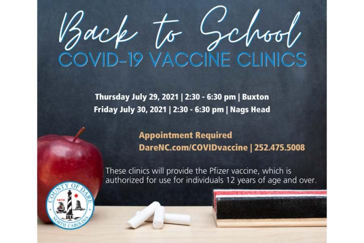 Back to School Covid-19 Vaccine Clinics