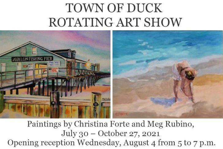 Duck Rotating Art Show: Paintings by Christina Forte and Meg Rubino