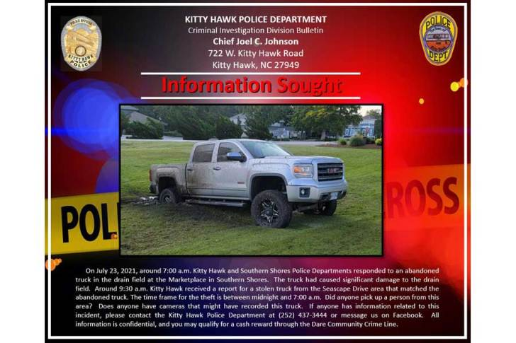 Information sought by Kitty Hawk Police