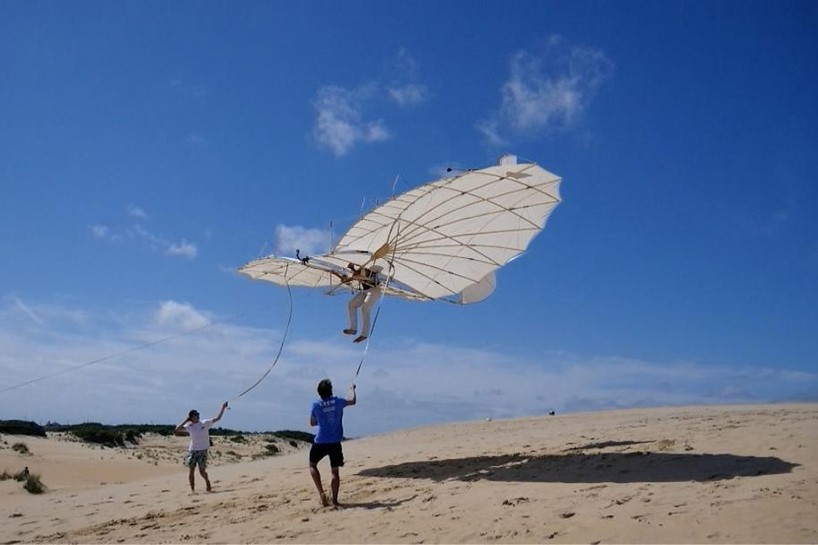 Once in a Lifetime Experience—The Lilienthal Glider Soars above Jockey's Ridge