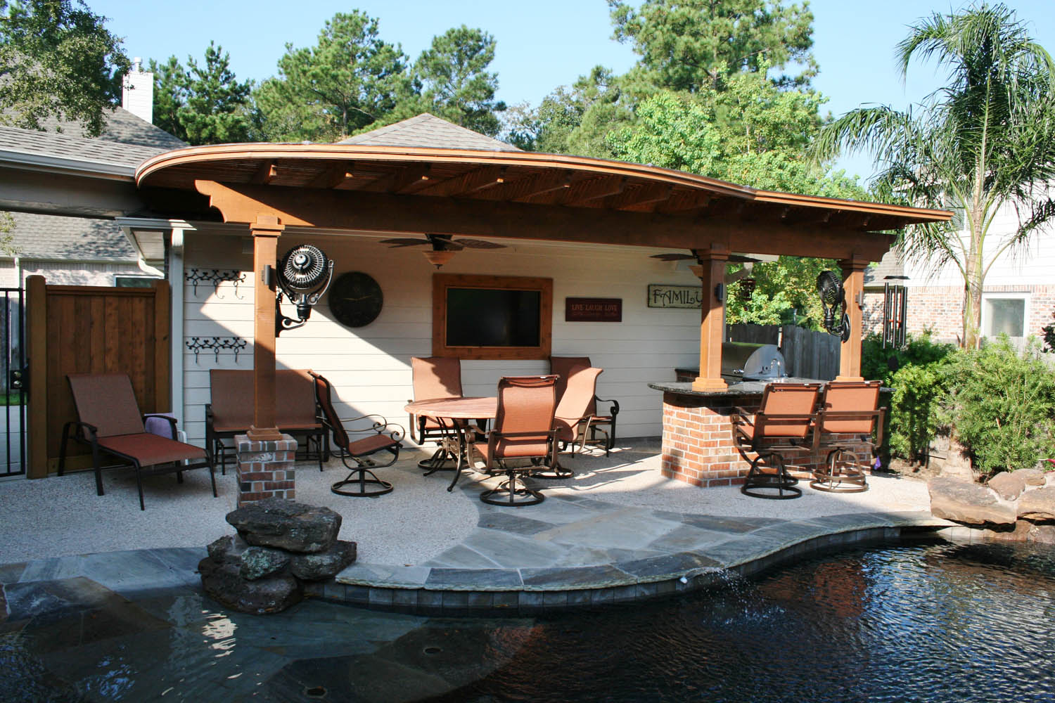 Houston Outdoor kitchens | Spring Photos | The Woodlands Arbor on Outdoor Kitchen By Pool id=45398