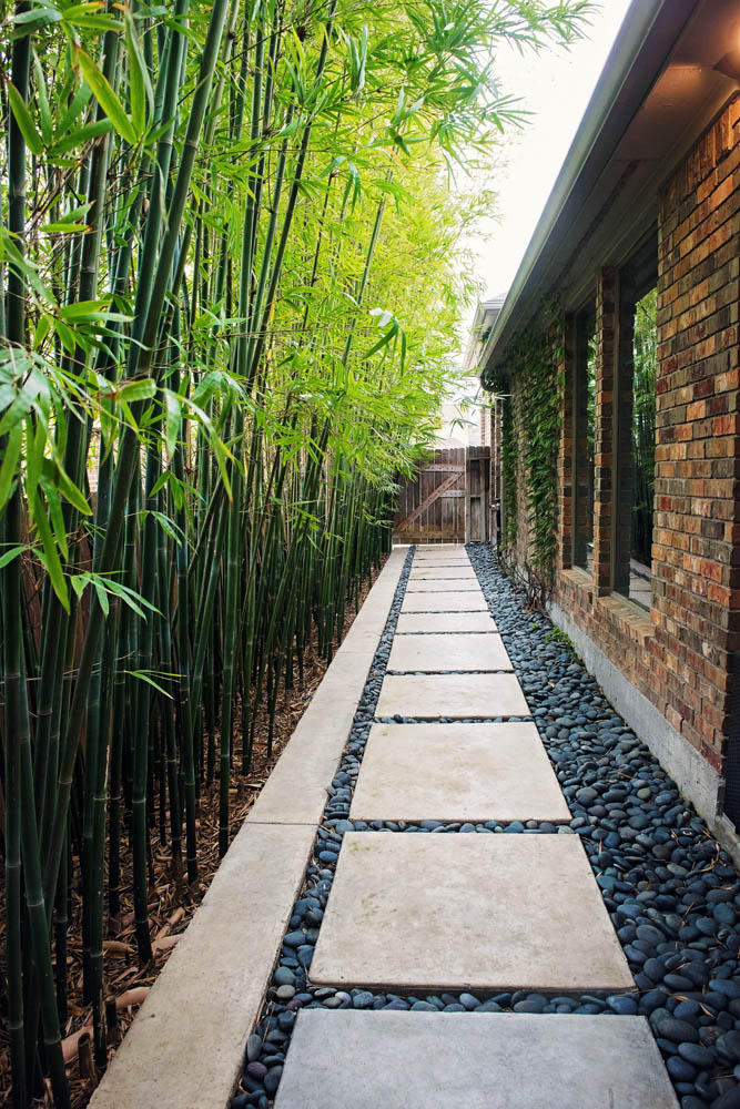 Houston Landscape Photos | Spring Outdoor Living | The ... on Side Yard Walkway Ideas  id=29924