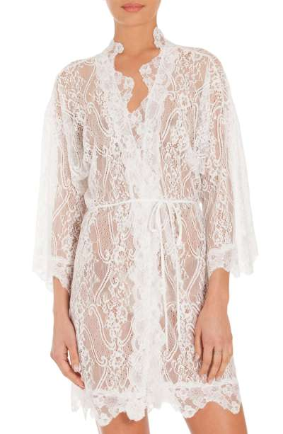 Sexy Lingerie for Travel - White Lace Robe