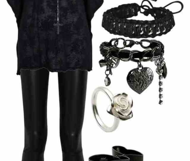 Cute Goth Style Outfit Ideas 12