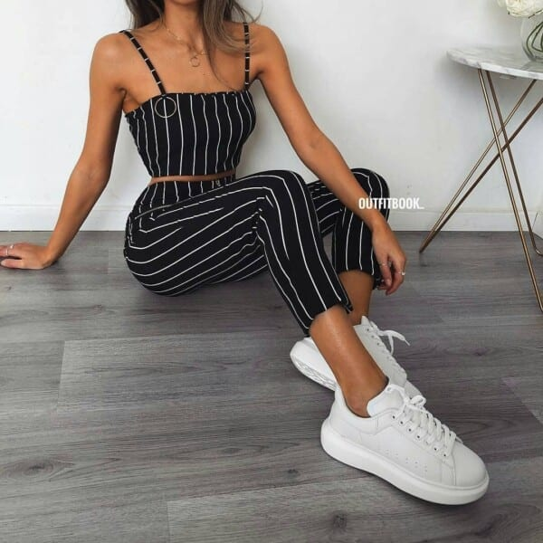 Image result for black women in white sneakers