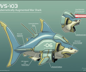 Laser shark: If it was robotic and in space, it'd be the perfect web story Credit: Jesse McGibney, http://mcgibs.iseenothing.com/