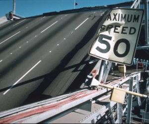 Bridge damage from the Loma Prieta Earthquake. Photo credit: Joe Lewis