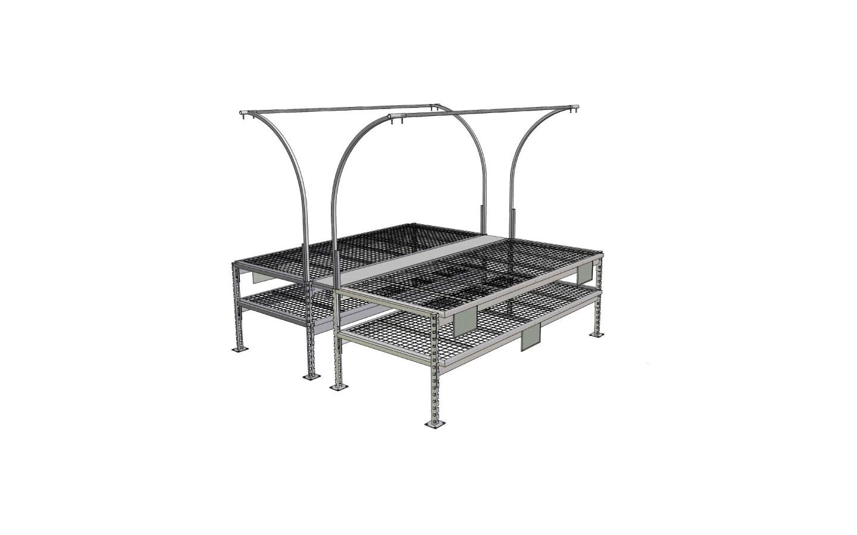 Flat Surface Display Bench